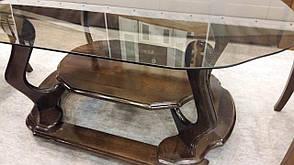 Стол журнальный со стеклянной столешницей  Уно Микс мебель, цвет  орех, фото 2