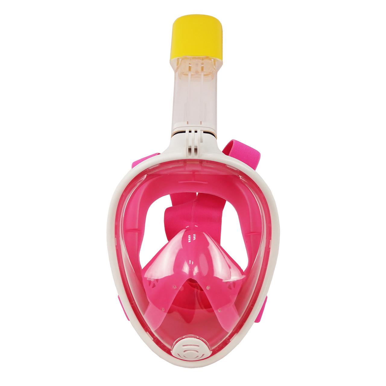 Маска для снорклінга, підводного плавання Easybreath (рожева)