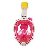 Маска для снорклінга, підводного плавання Easybreath (рожева), фото 1