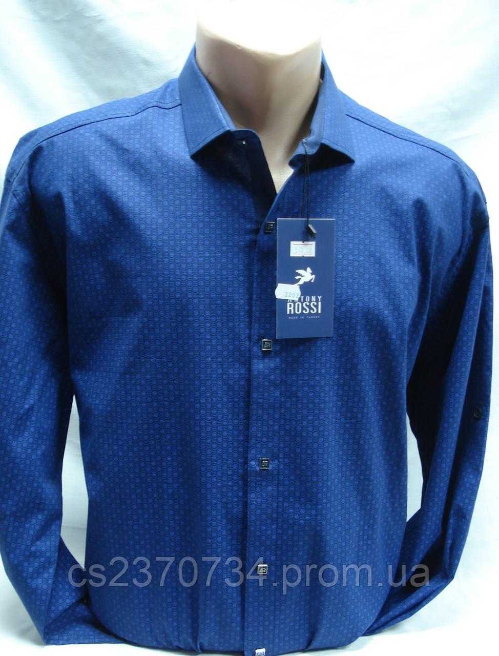 Рубашка мужская Antoni Rossi цвет синий в мелкий рисунок 4XL,5XL,6XL,7XL