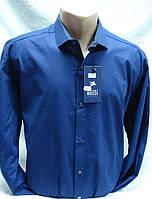 Рубашка мужская Antoni Rossi цвет синий в мелкий рисунок 4XL,5XL,6XL,7XL, фото 1