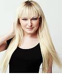 Волосы на лентах 60 см. Цвет #60 Холодный блонд, фото 3