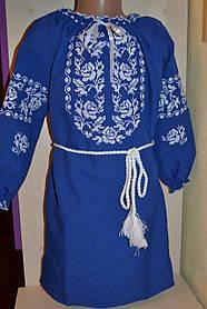 Дитяче вишите плаття-туніка від 4 до 16 років електрик