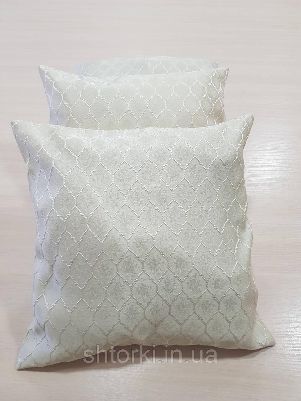 Комплект подушек 3шт молочные Ромбик, 40х40