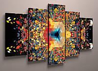 Картина модульная яркие краски 125х70