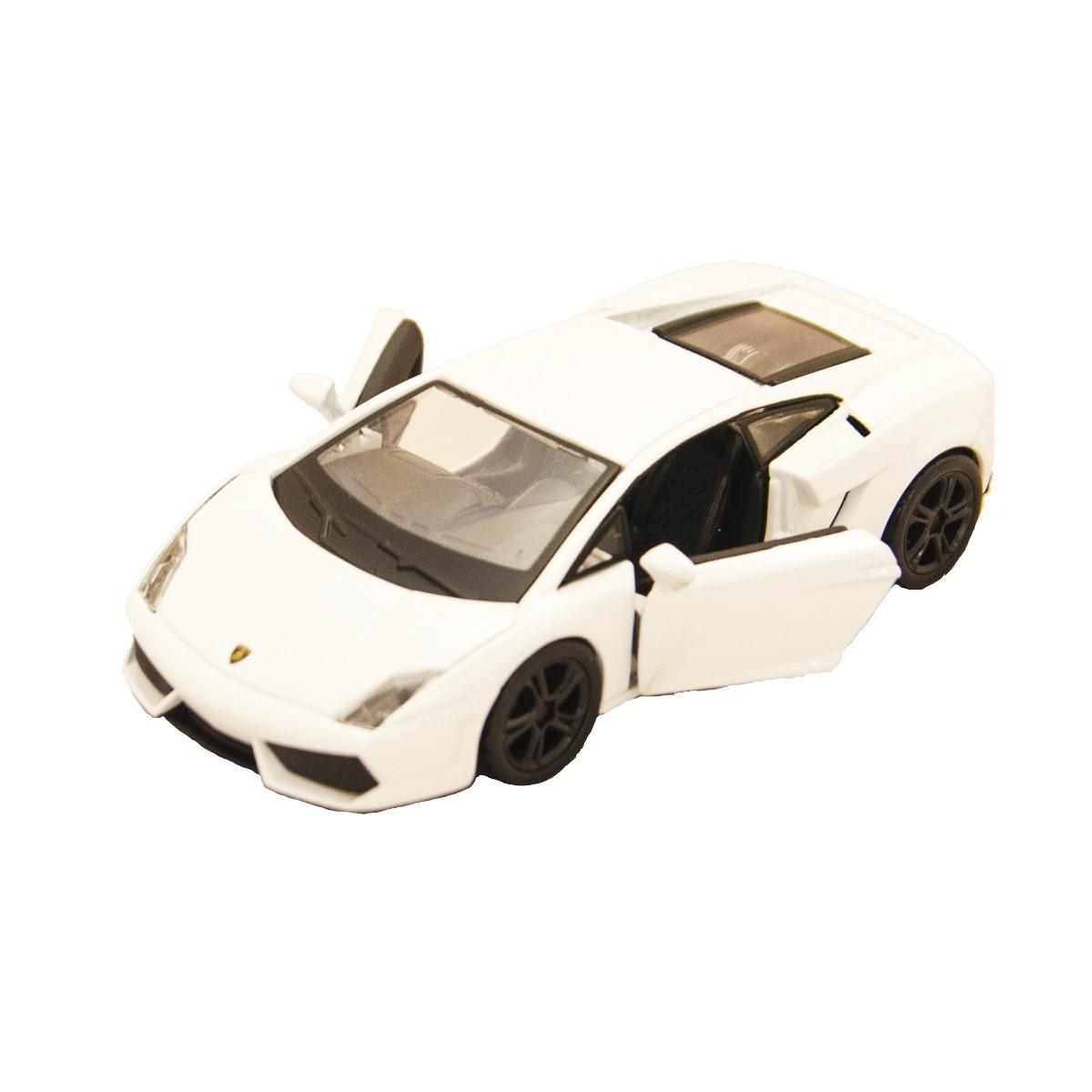 Модель авто Lamborghini Gallardo LP560-4 2008 белый, светло-зеленый металлик 1:32 BBurago 18-43020