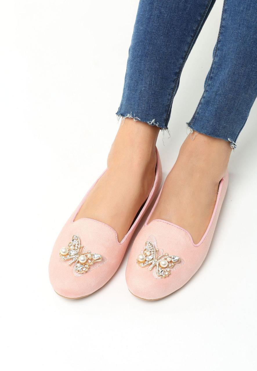 04dff8334609 Розовые женские балетки с бабочки 37 Vices