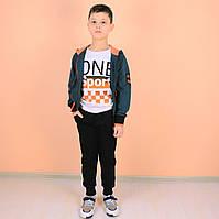 Детский спортиный костюм 3-ка мальчику тм Grace Венгрия размер 158