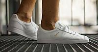 "✔️ Кроссовки Adidas Gazelle Leather Trainers ""White"""