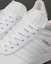 "✔️ Кроссовки Adidas Gazelle Leather Trainers ""White"" , фото 2"