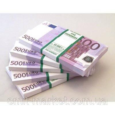 Пачка денег по 500 евро