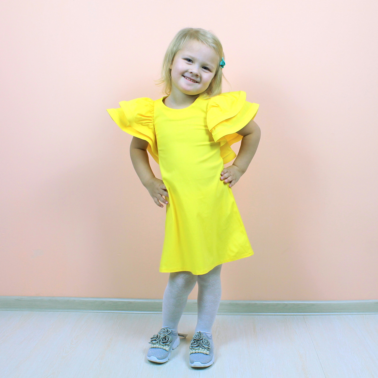 bf78e6a29bfd844 Купить Детская платье баранчик желтое размер M/134, XL/146 в Киеве ...