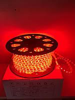 Светодиодная лента LED 3528-60 220V IP67 Красная (СТАНДАРТ)
