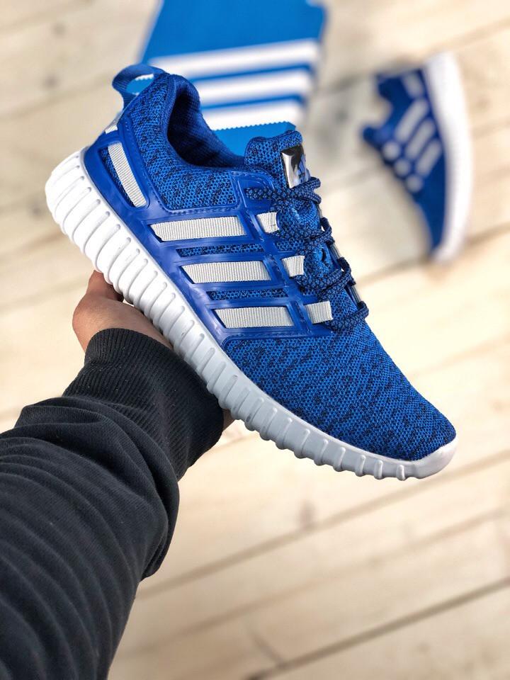 Кроссовки мужские синие Adidas incognito 40-44