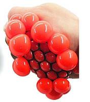 Лизун Мозги из сетки большой, красный, фото 1