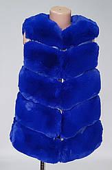 Меховая детская жилетка без капюшона (150-180 р)