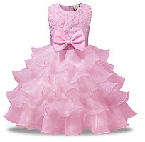 Платье нарядное с бантом 90, 100,  130, 140
