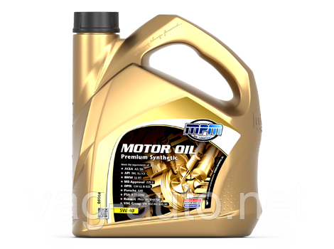 Моторне мастило MPM Oil 5W-40 Premium Synthetic 5L
