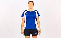 Форма волейбольная женская MIZUNO SUCCESS CO-6481-LB (Coolmax, шорты-хлопок, р-р S-XL(42-48), синий-белый) Rep