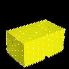 Коробка для торта КТ 0115 (1кусок), зелёный горох 100*160*80, 25шт/уп