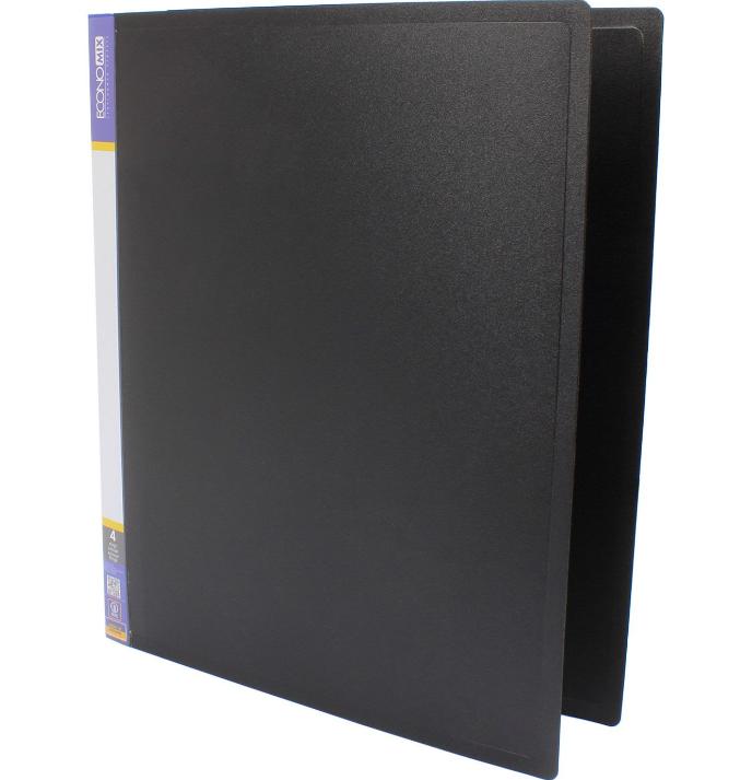 Папка пластикова А4 Economix 4 кільця, чорна E30702-01