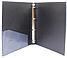 Папка пластикова А4 Economix 4 кільця, чорна E30702-01, фото 2