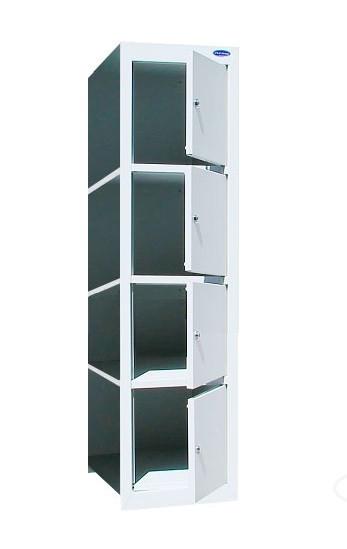 Шкаф ячеечный приставной без стенки на 4 ячейки ШО-400/1-4пр.