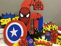 """Декор из пенопласта и полистирола для вечеринки в стиле """"Superhero party"""""""