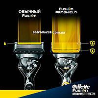 Gillette Fusion ProShield YELLOW 4 шт. сменные кассетыдля бритья оригинал США