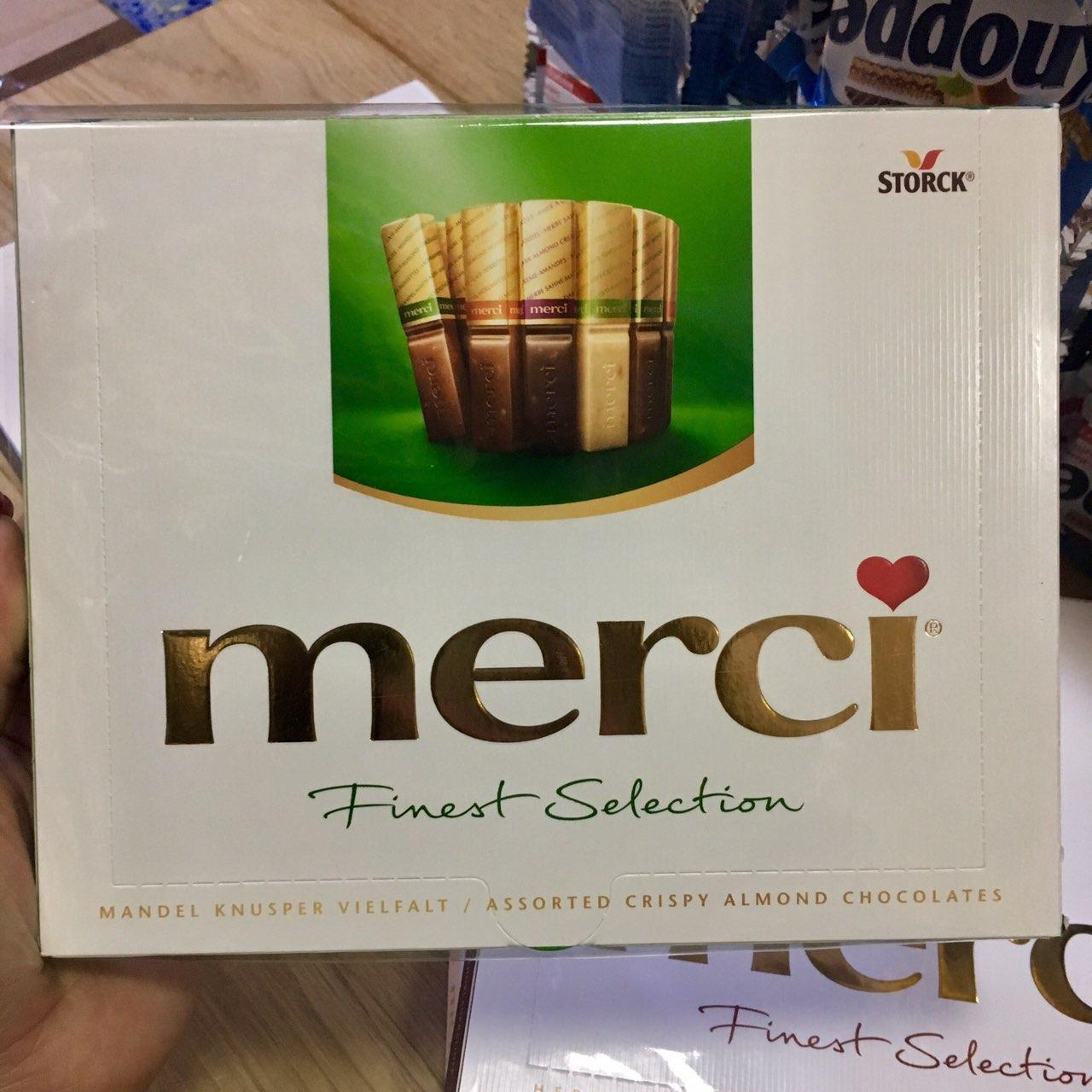 Конфеты Merci Crispy Almond Chocolates 250 g