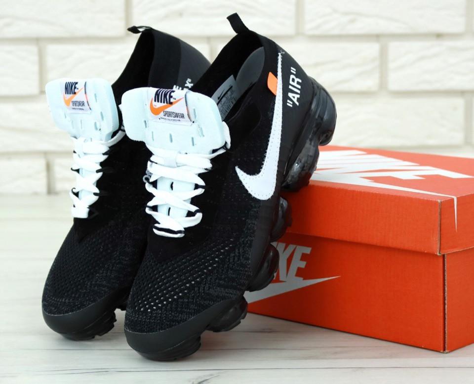 check out b0bec d433c Кроссовки мужские Nike Air VaporMax Plus x Off White Black/White Реплика