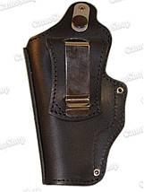 Кобура поясная кожаная ПМ на скобе, фото 2