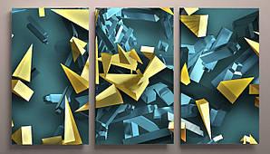 Модульная картина яркая абстракция 90х60