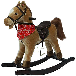 Качалка лошадка Urvisko 003 светло-коричневый