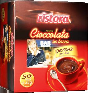 Горячий шоколад RISTORA порционный 50 шт по 25 грамм