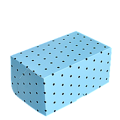 Коробка для торта КТ 0114 (1кусок), голубой горох 100*160*80, 25шт/уп