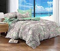 Двуспальный комплект постельного белья евро 200*220 сатин (10096) TM КРИСПОЛ Украина