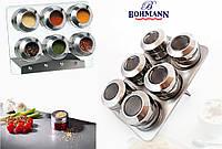 Спецовник Bohmann BH-7817 набор для специй и приправ на магните 6 емкостей для специй