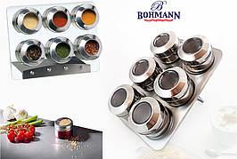 Спецовник Bohmann BH-7817 набір для спецій і приправ на магніті 6 ємностей для спецій
