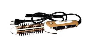Плойка-утюжок-гофре с расческой для волос 3в1 Nova NHC - 8890