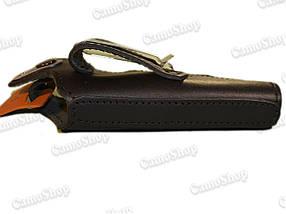 Кобура поясная кожаная ПМ на скобе, фото 3