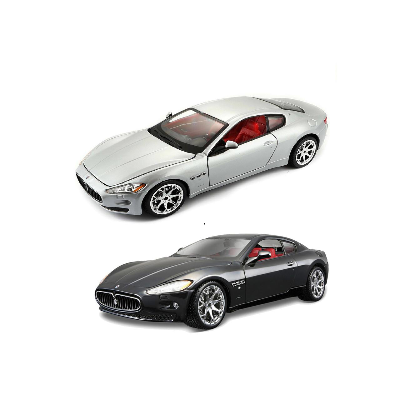 Модель Maserati Grantourismo 2008 черный, серебристый 1:24 BBurago 18-22107