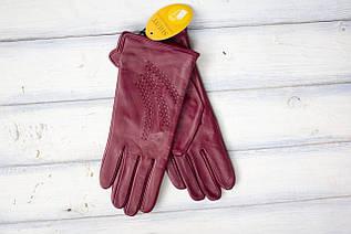 Женские кожаные перчатки Средние с небольшим дефектом