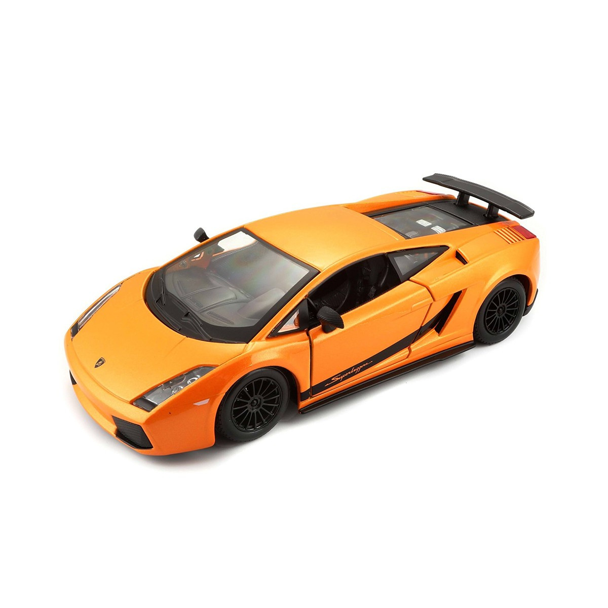Модель авто Lamborghini Gallardo Superleggera 2007 зеленый, оранжевый металлик 1:24 BBurago 18-22108