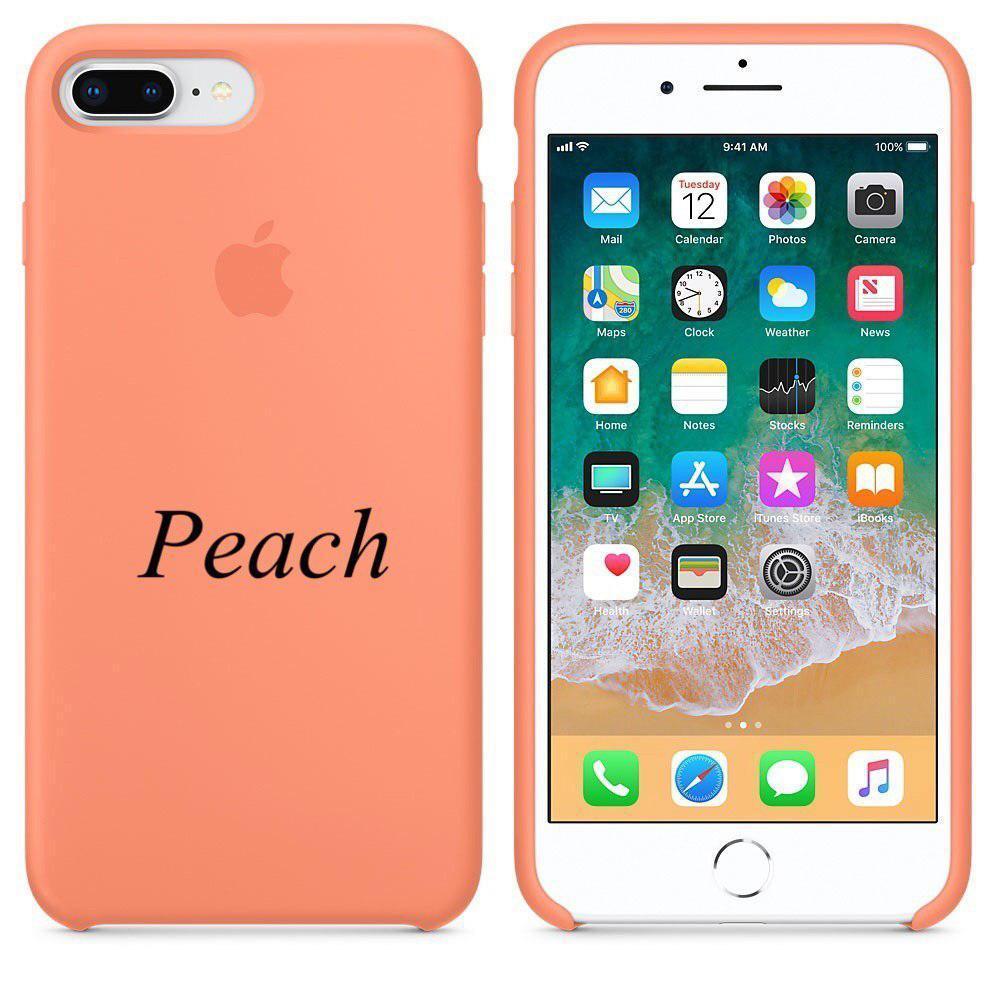 """Apple silicon case iPhone 7 plus  """" Peach"""""""