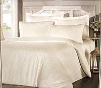 Комплект постельного белья из жаккарда евро размер ТМ ALTINBASAK Liya krem