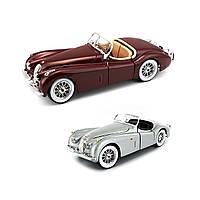 Автомодель Jaguar XK 120 1951 вишневый, серебристый 1:24 BBurago 18-22018