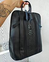 Рюкзак трансформер сумка  , рептилия ,  натуральная кожа , кожаные сумки