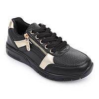 Кроссовки для девочки черные с золотым 5519-1822 Lapsi