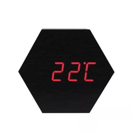 Электронные часы VST-876 Черные - Красная подсветка